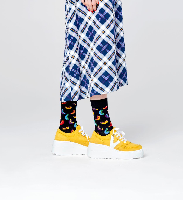 Black socks: Hotdog pattern | Happy Socks