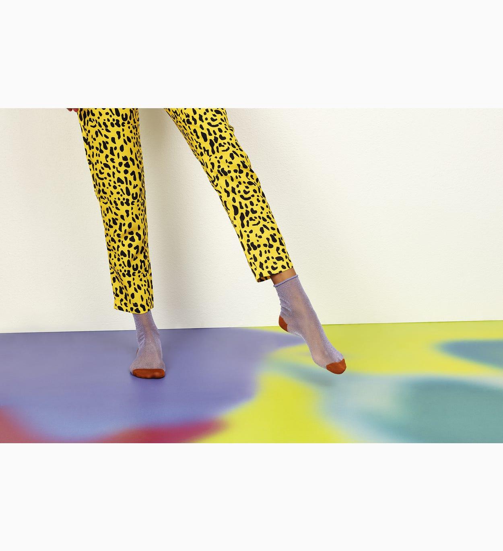 Lilafarbene Ankle Socken: Emma - Hysteria   Happy Socks