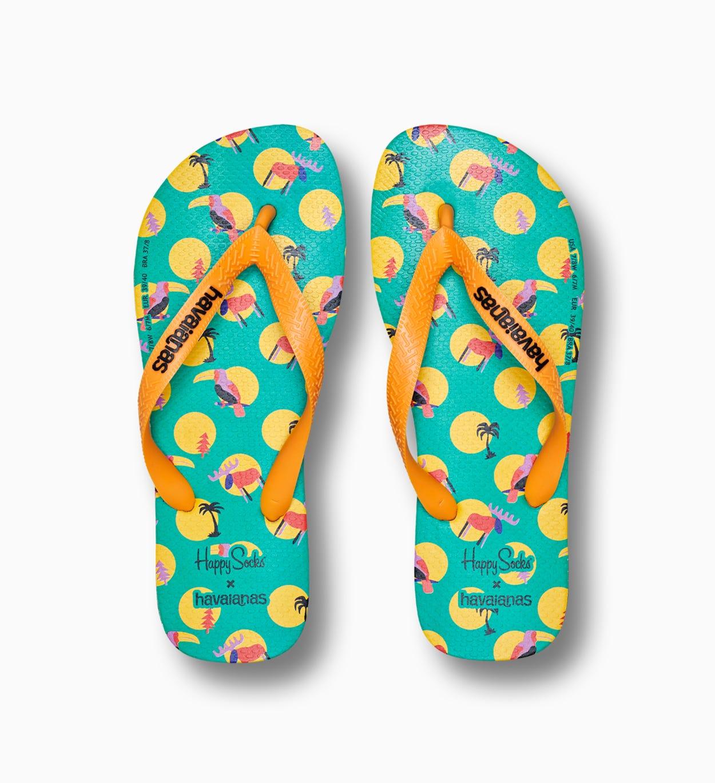 Happy Socks x Havaianas: Animal Dot Flip Flops + Socken