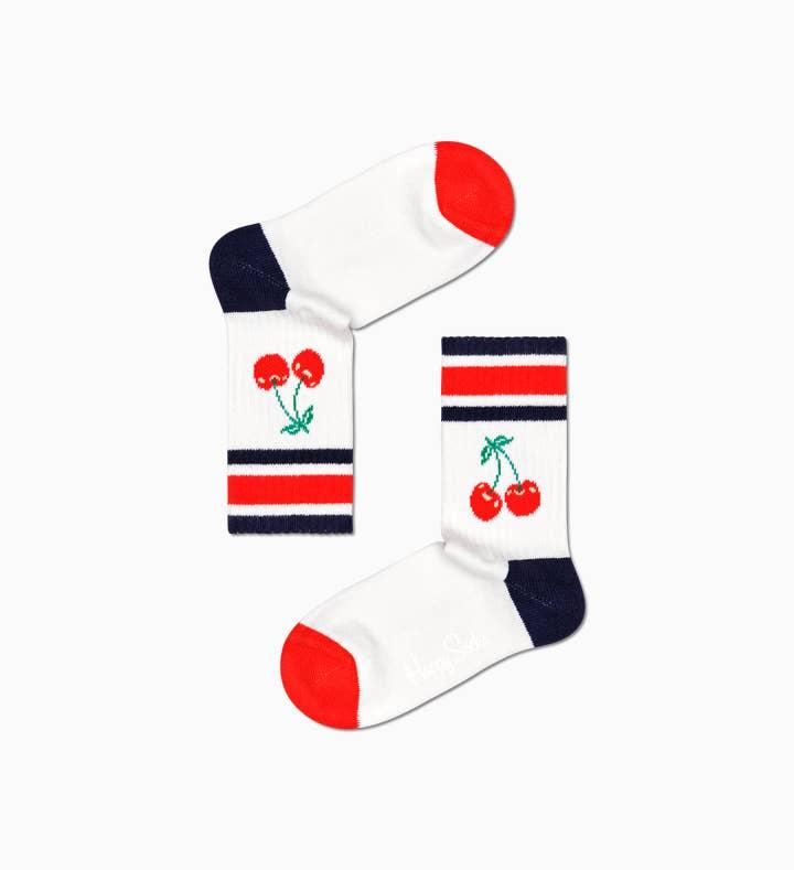 Kids Cherry Rib Sock