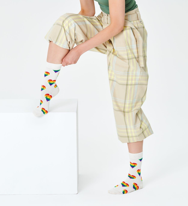 White Sock: Pride Heart | Happy Socks