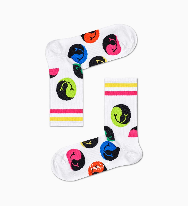 Jumbo Dot 3/4 Crew Socken, Weiß - ATHLETIC   Happy Socks