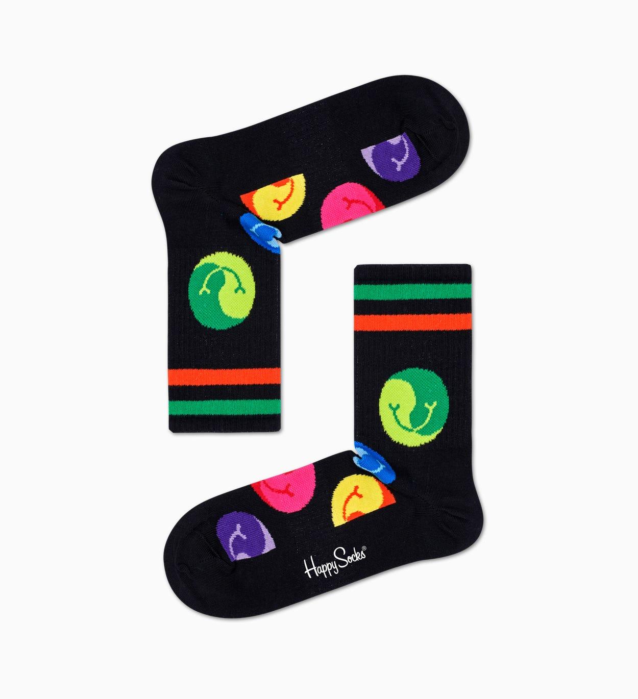 Jumbo Dot 3/4 Crew Socken, Schwarz - ATHLETIC | Happy Socks