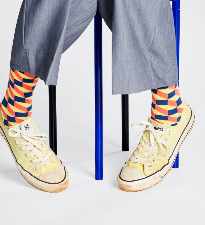 Filled Optic Socken, Gelb   Happy Socks
