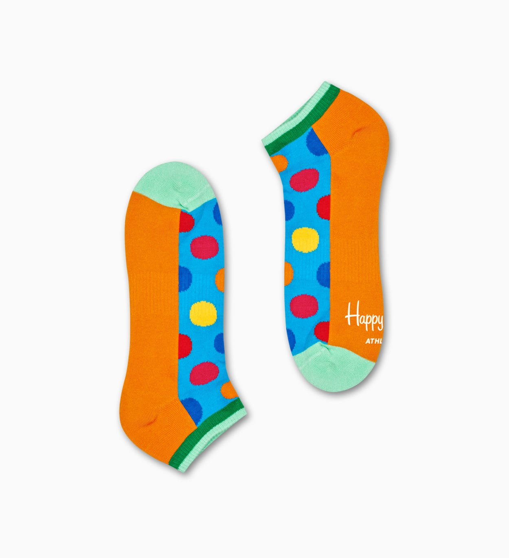 Orange, blaue Sneaker-Socken: Big Dot - ATHLETIC   Happy Socks