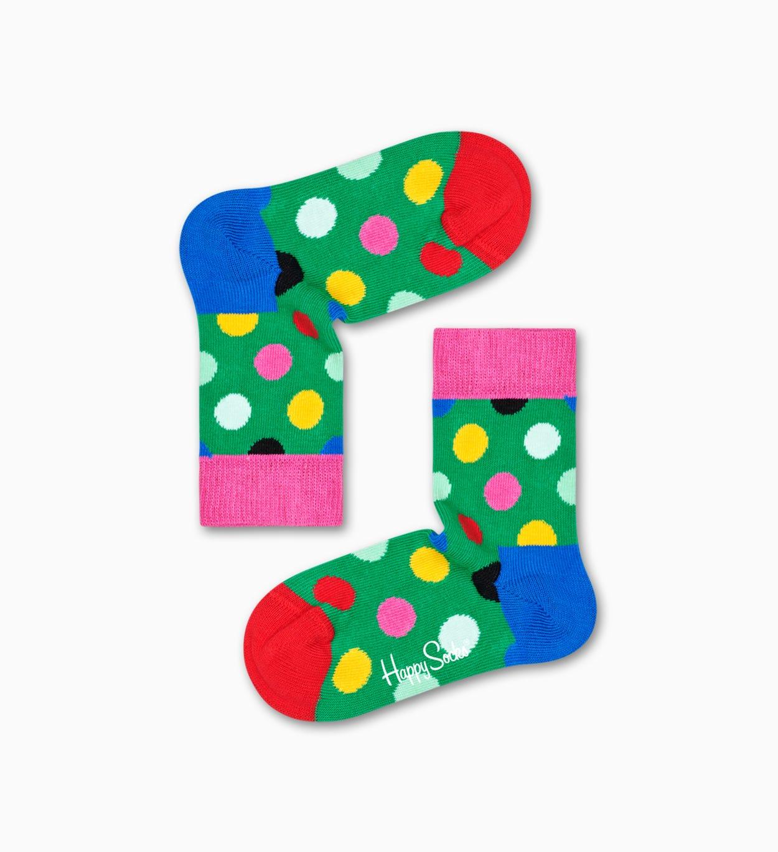 영유아용 양말: Big Dot, 그린 | Happy Socks