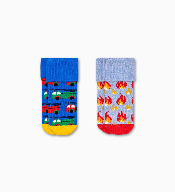 Terry Socken für Babys 2er-Pack: Feuer   Happy Socks