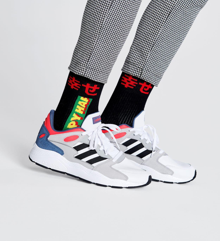 Happy 3/4 Crew Socken, Schwarz - ATHLETIC | Happy Socks
