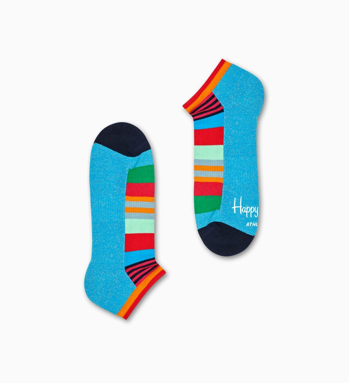 Blaue, rote Sneaker-Socken: Stripe - ATHLETIC | Happy Socks