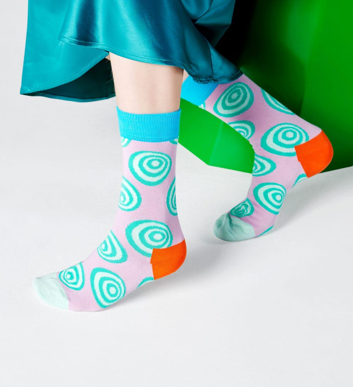 Crazy Dot Socken, Lila   Happy Socks