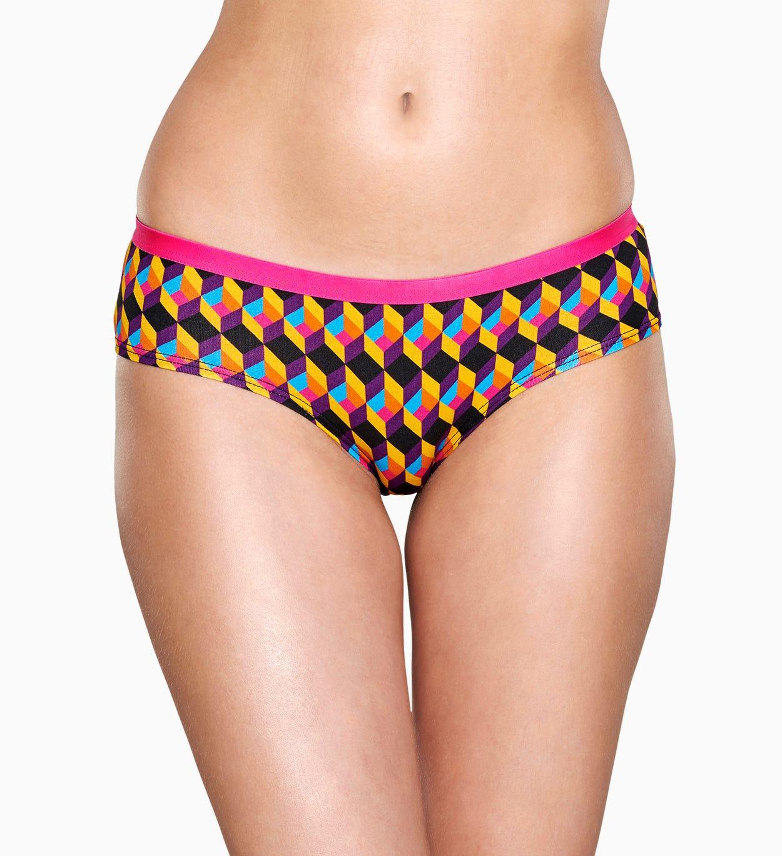 Damenunterwäsche: Optic Square Hipster, Pink | Happy Socks