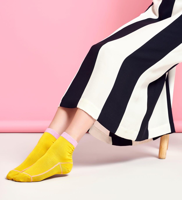 Damen Sneaker Socken: Lily - Gelb | Hysteria