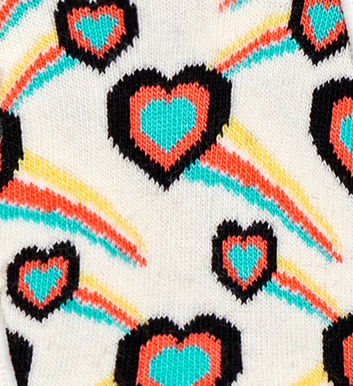 3er-Pack Shooting Heart Füßlinge, Grau   Happy Socks