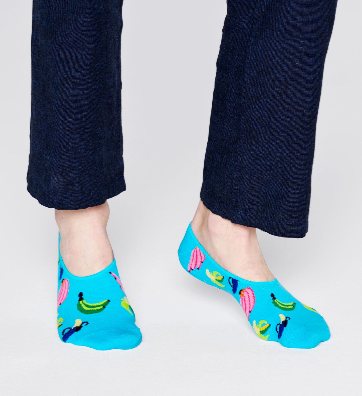 Banana Füßlinge, Blau   Happy Socks