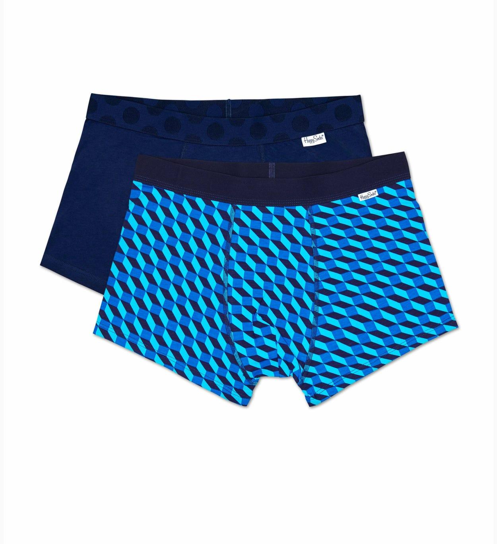 2er-Pack Filled Optic Trunk, Blau - Herrenunterwäsche   Happy Socks
