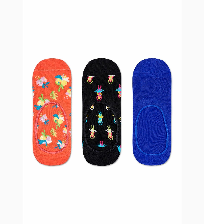 3-Pack Hibiscus Füßlinge, Orange   Happy Socks