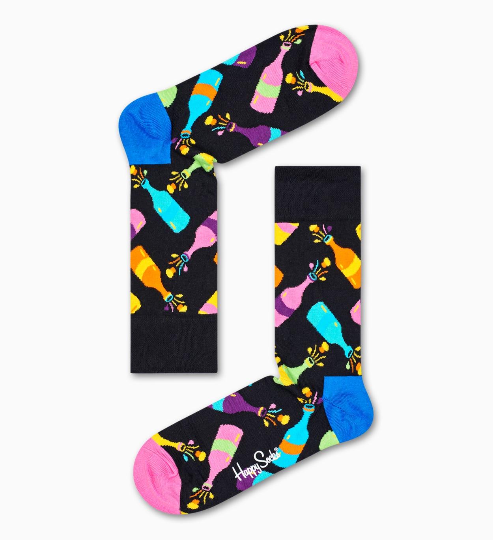 Gelbe New Year's Geschenkbox   Happy Socks