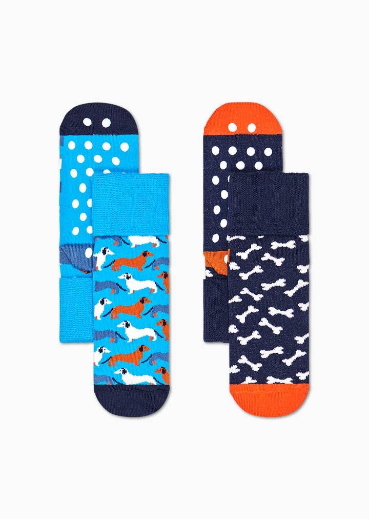 Kids Dog Anti-Slip Socks 2-Pack