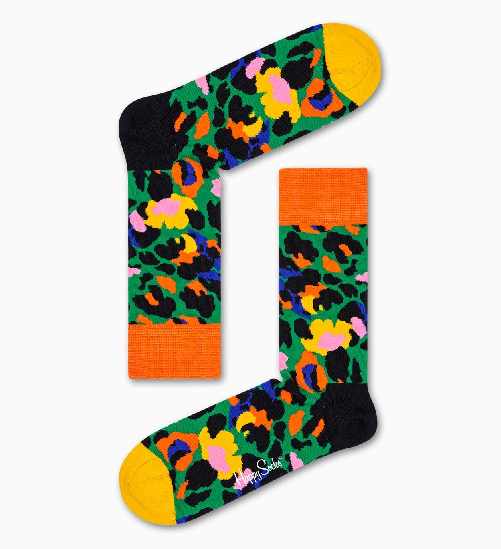Leopard Socken, Grün   Happy Socks