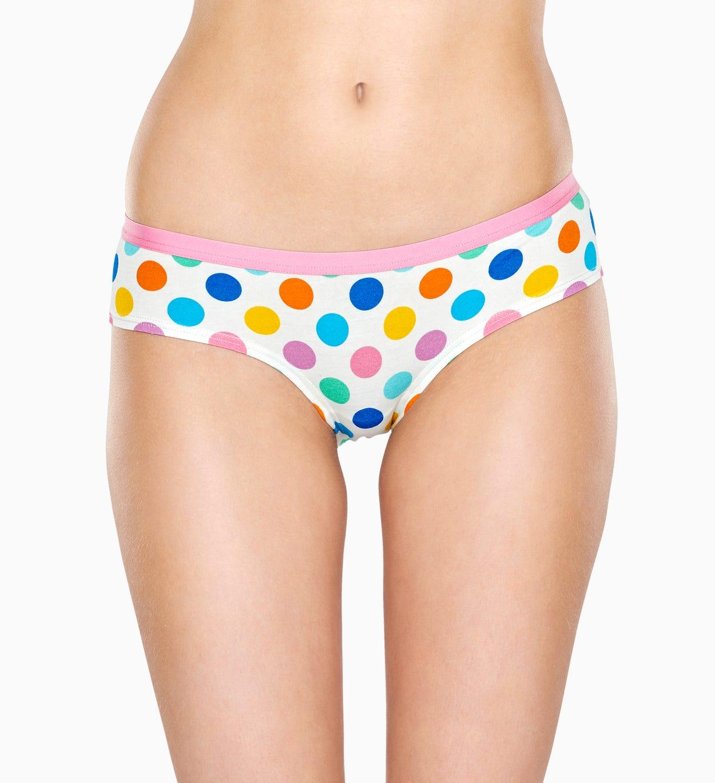 Weißer Hipster: Big Dot - Damenunterwäsche | Happy Socks