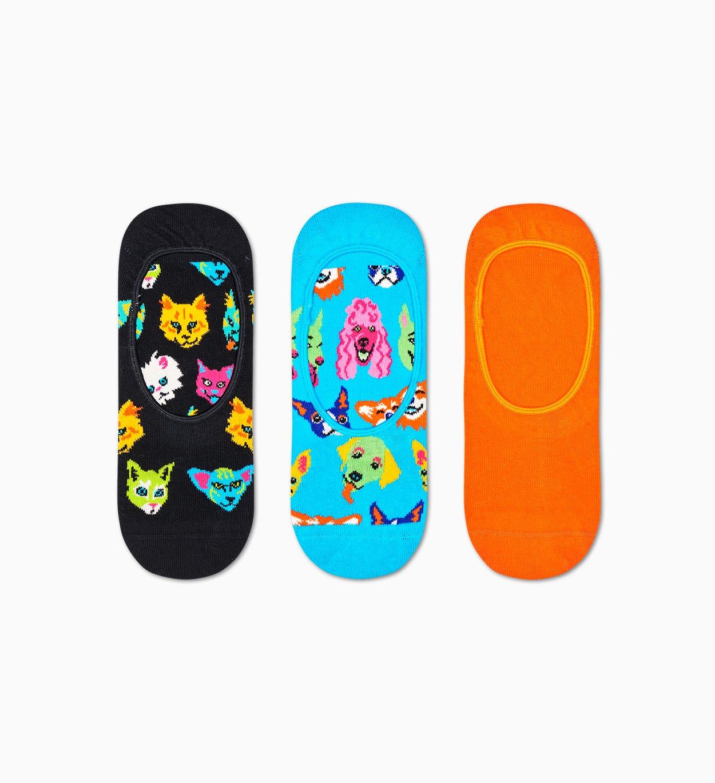 3er-Pack Cats And Dogs Füßlinge, Blau | Happy Socks