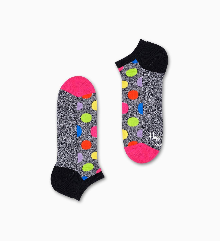 2er-Pack Big Dot Sneakersocken, Grau - ATHLETIC | Happy Socks