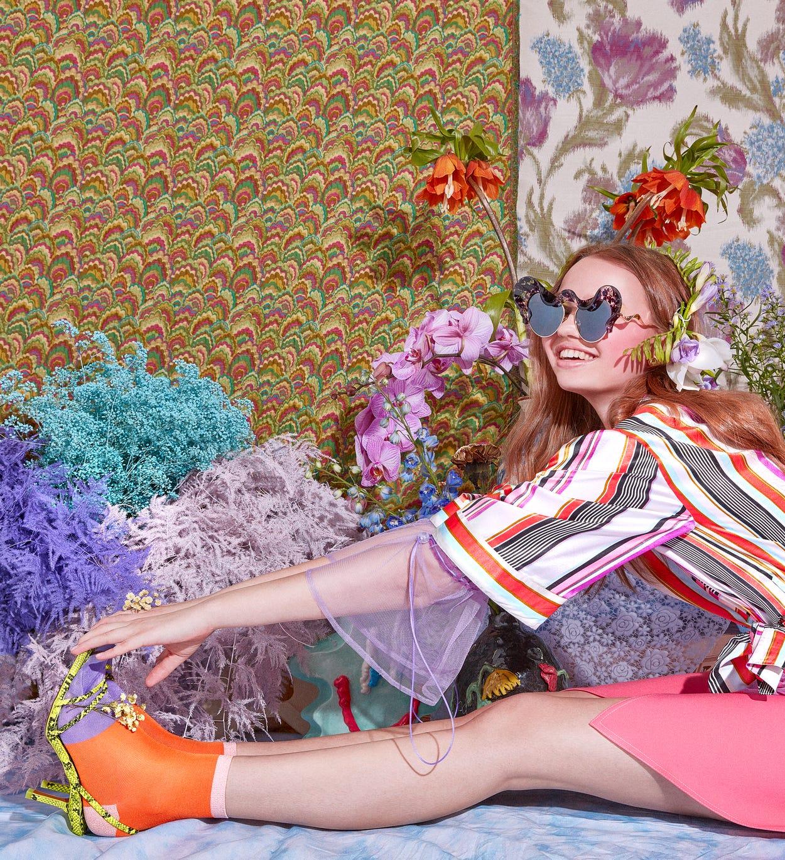Liza Ankle Socks, Orange - Hysteria | Happy Socks