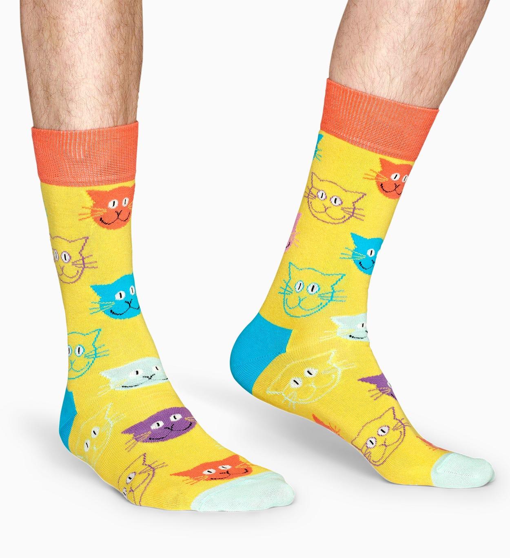 Witzige   Süße Cat Socks - Gelb | Happy Socks