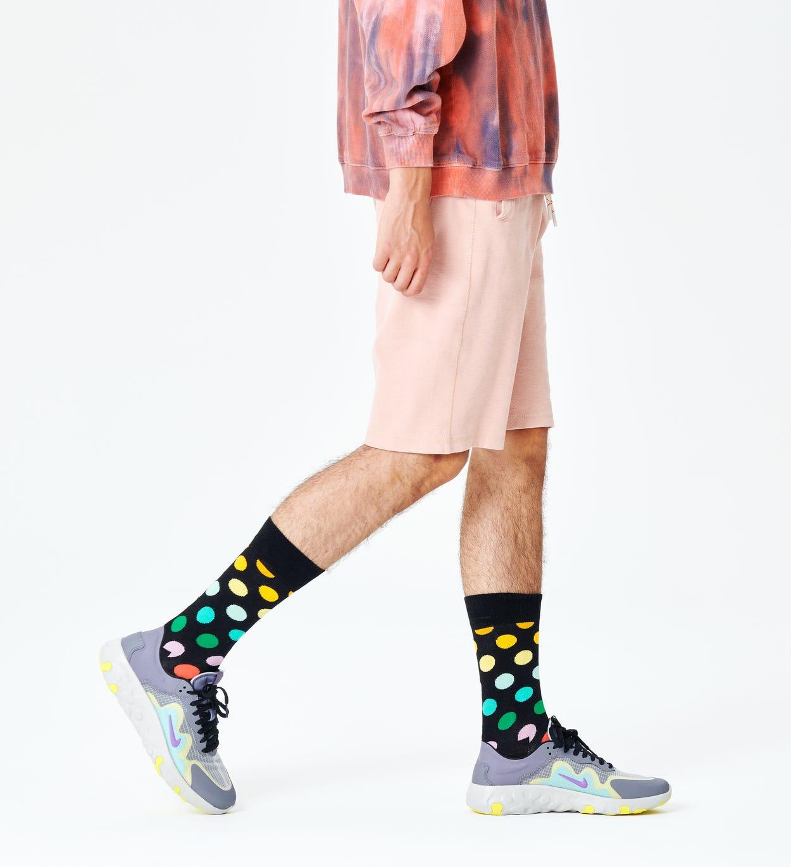 Big Dot Socks, Black   Happy Socks