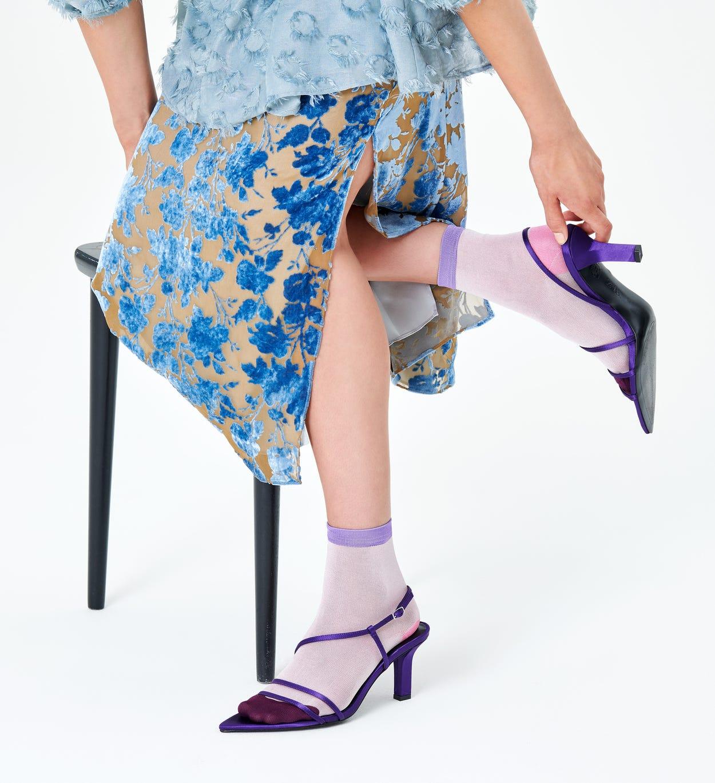 Grace Ankle Socks, Pink - Hysteria   Happy Socks