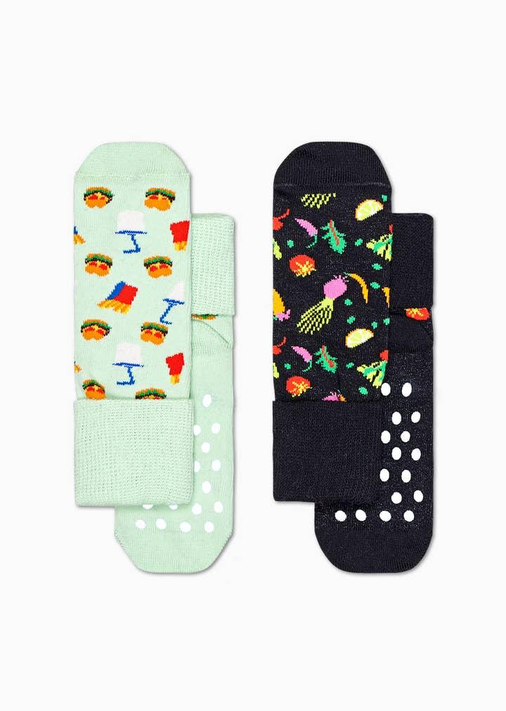 2-Pack Kids Food Anti-Slip Socks