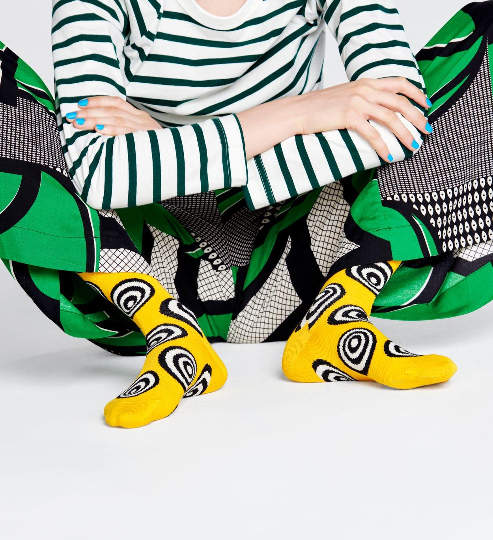 Crazy Dot Socken, Gelb   Happy Socks