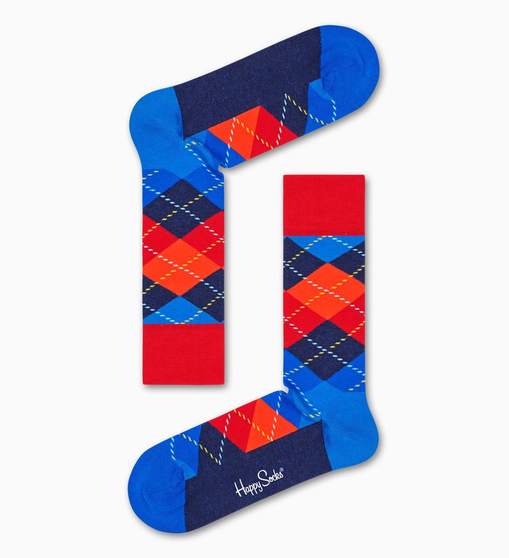 Argyle Socken, Blau   Happy Socks