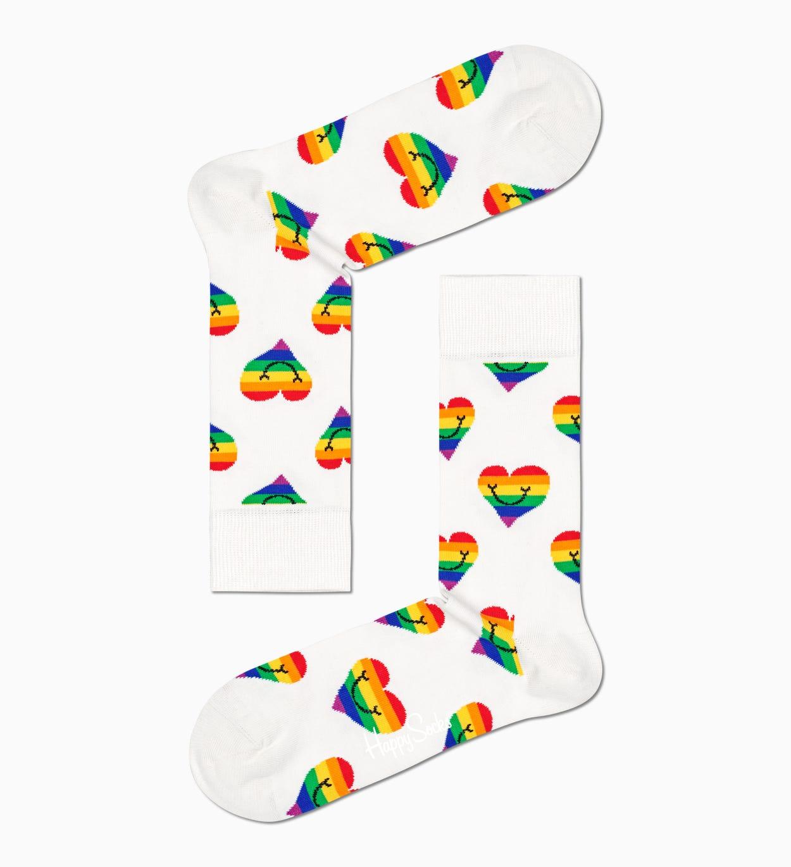 Pride Rainbow Strumpor Gift Set 2 par   Happy Socks