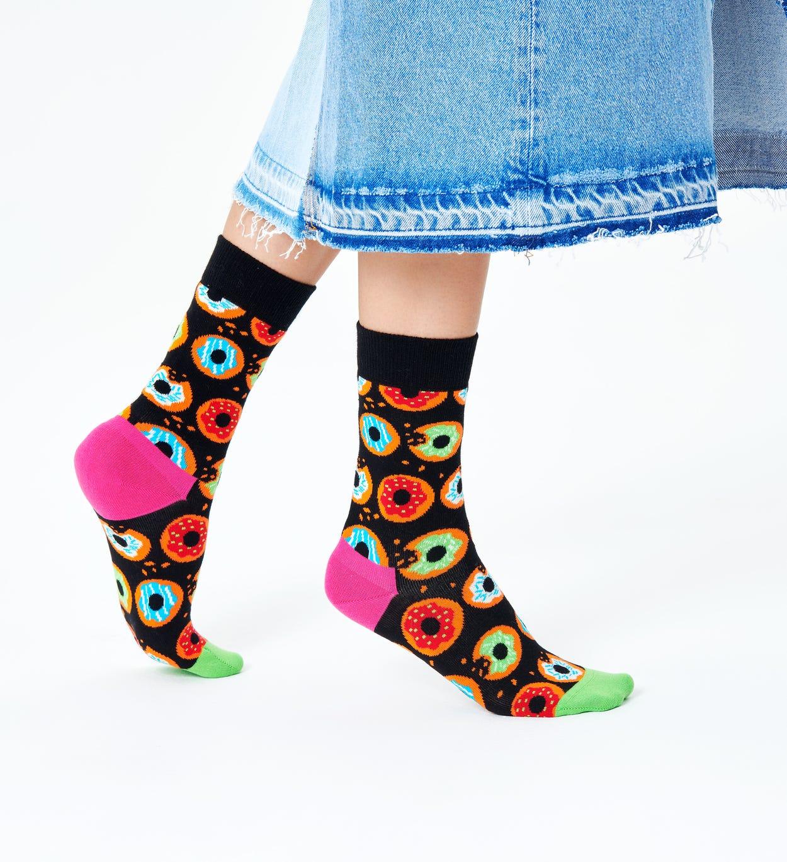 Donut Socks, Black   Happy Socks
