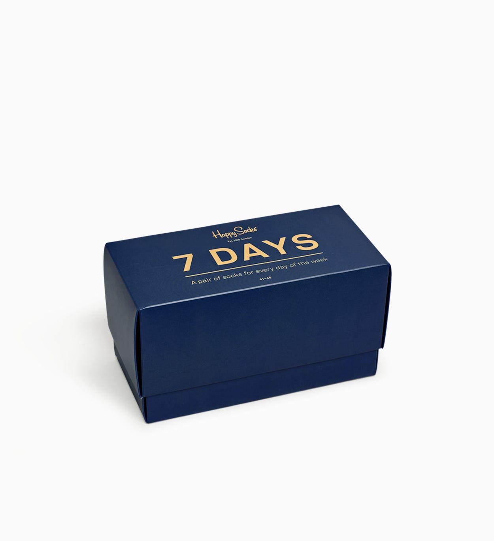 Gemusterte marineblaue Socken: 7-Tage | Happy Socks