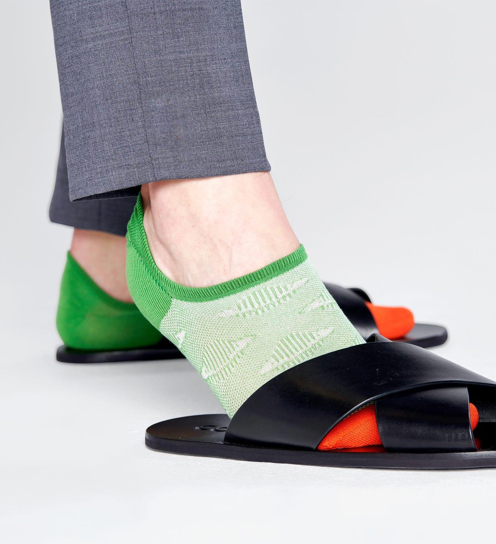 No-Show Socken mit Planeten, Grün - Dressed | Happy Socks