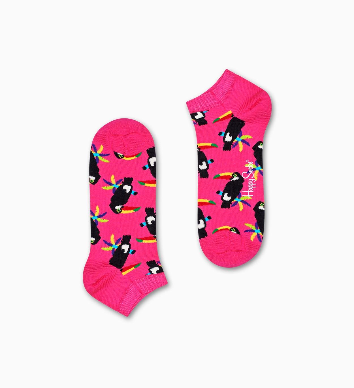 Toucan Sneakersocken, Pink | Happy Socks