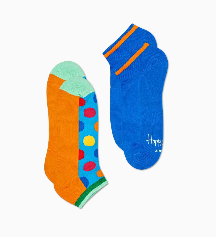 Blaue Sneaker-Socken, 2er Pack: Big Dot - ATHLETIC   Happy Socks