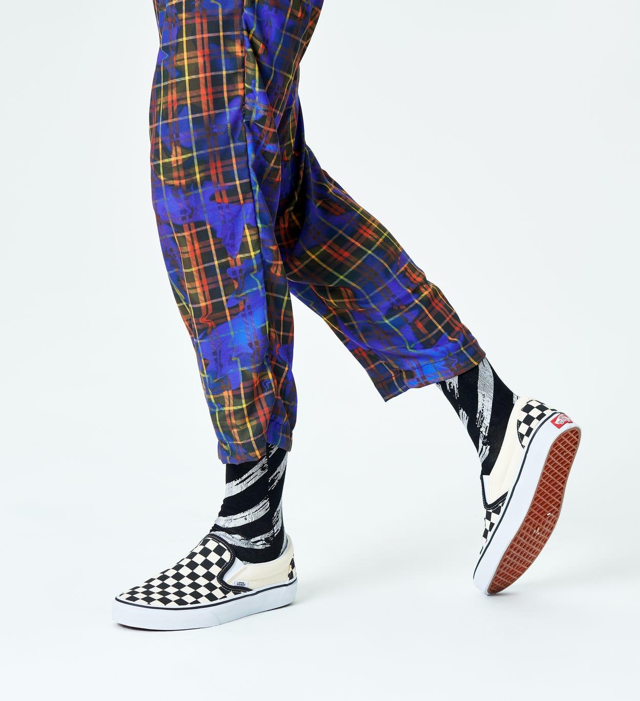 Black The Silver Lining Sock | Happy Socks