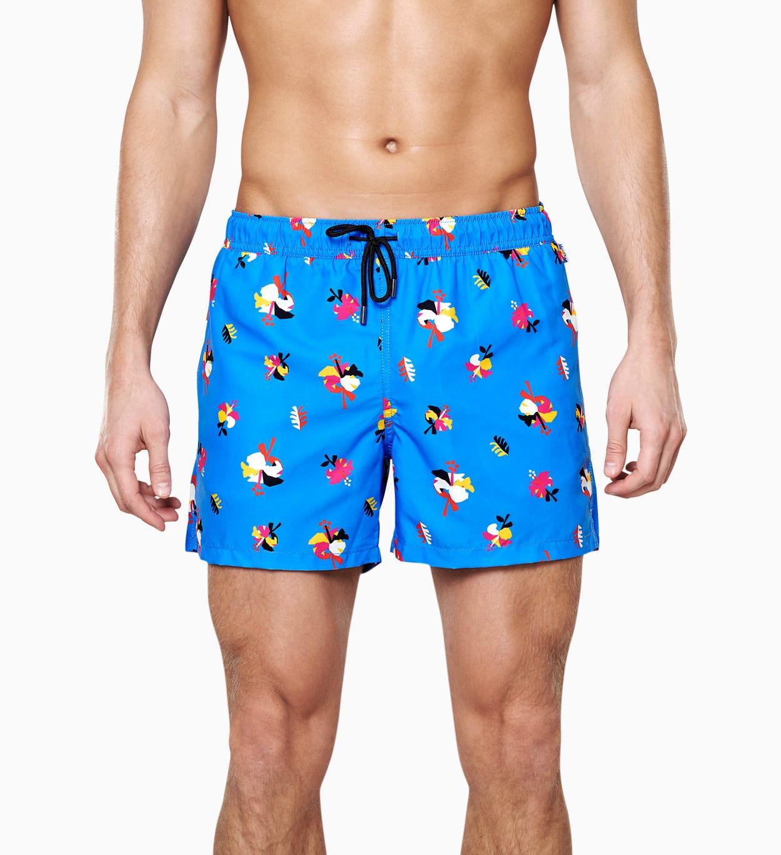 Hibiscus Badeshorts, blå | Happy Socks