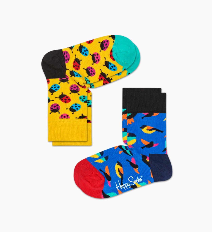 Yellow   Blue baby socks: Ladybug - 2pc   Happy Socks