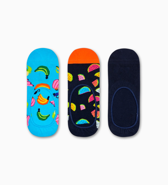 3er-Pack Banana Füßlinge, Schwarz   Happy Socks