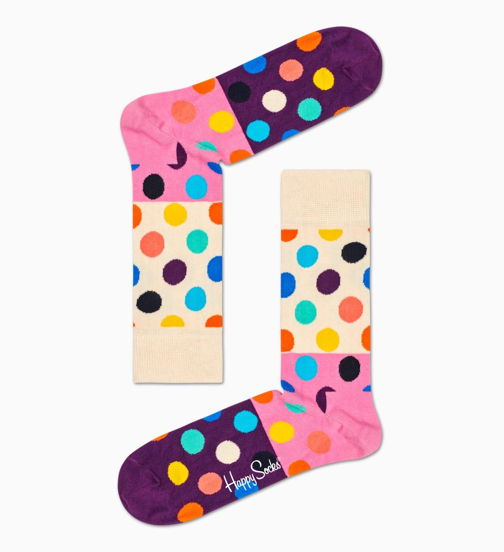 Lilafarbene Dot Socken Geschenkbox | Happy Socks