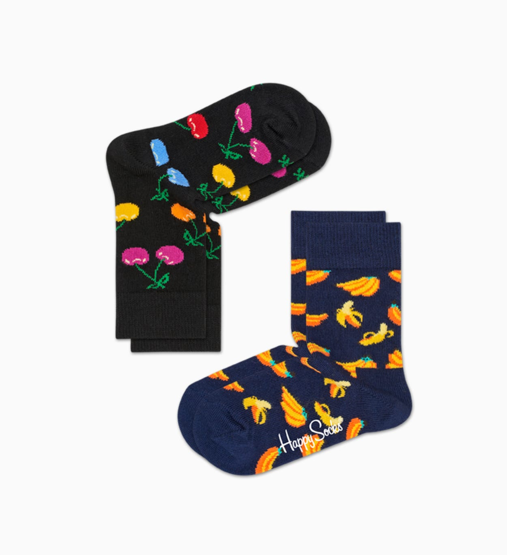 Black   Blue baby socks: Cherry - 2pc   Happy Socks