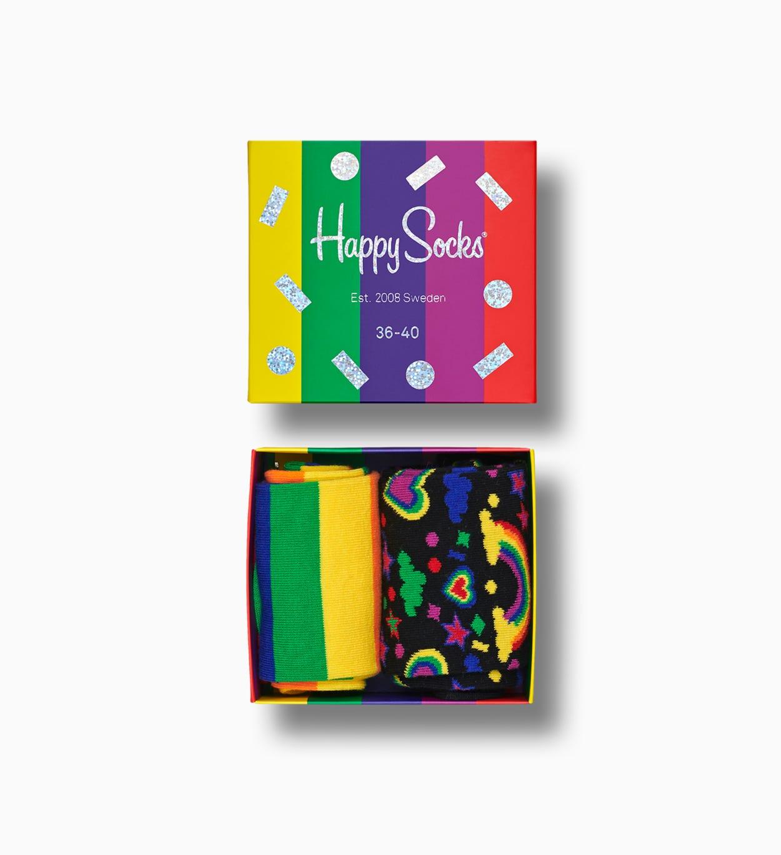 Bunte Socken Geschenkbox: Pride I Happy Socks