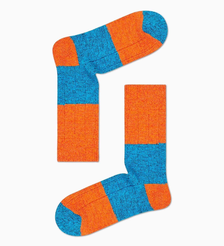 Orange Wollsocken: Blocked Rib | Happy Socks