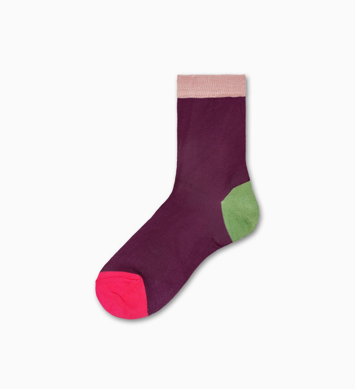 Lilafarbene Ankle Socken: Grace - Hysteria | Happy Socks