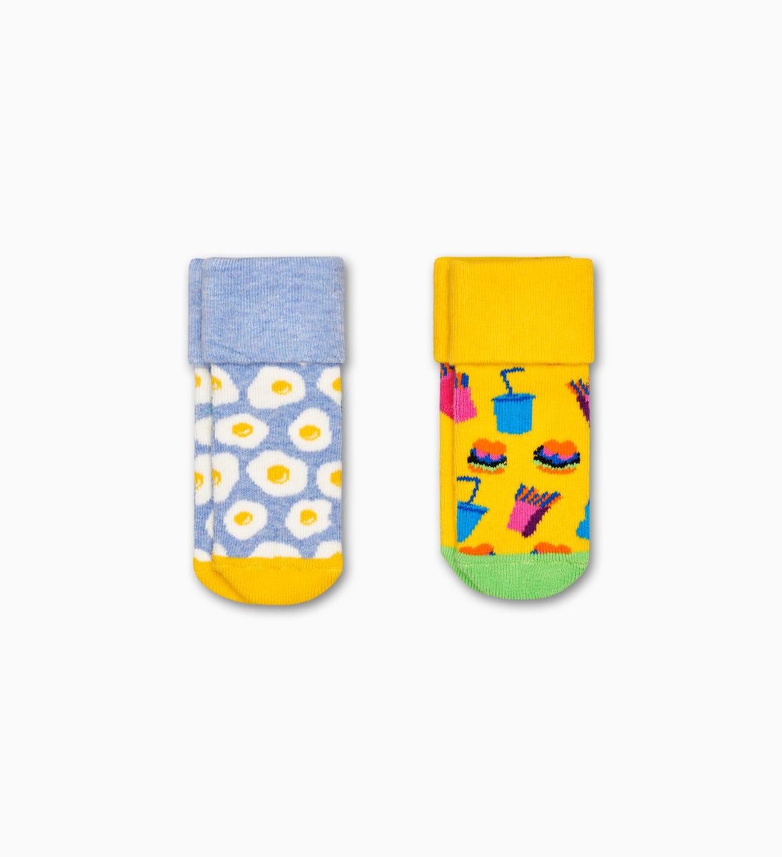 Terry Socken für Babys 2er-Pack: Brunch | Happy Socks
