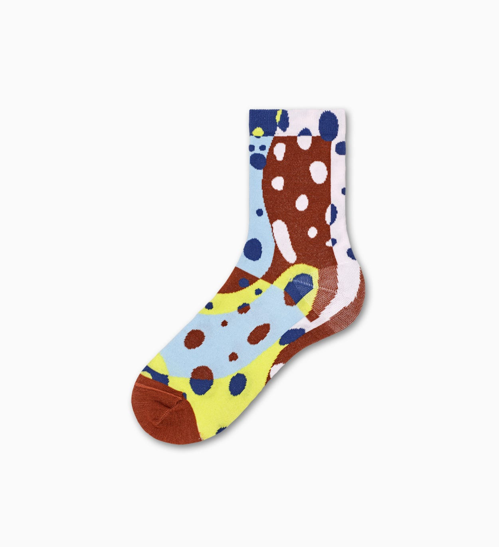 Braune Ankle Socken: Patty - Hysteria   Happy Socks